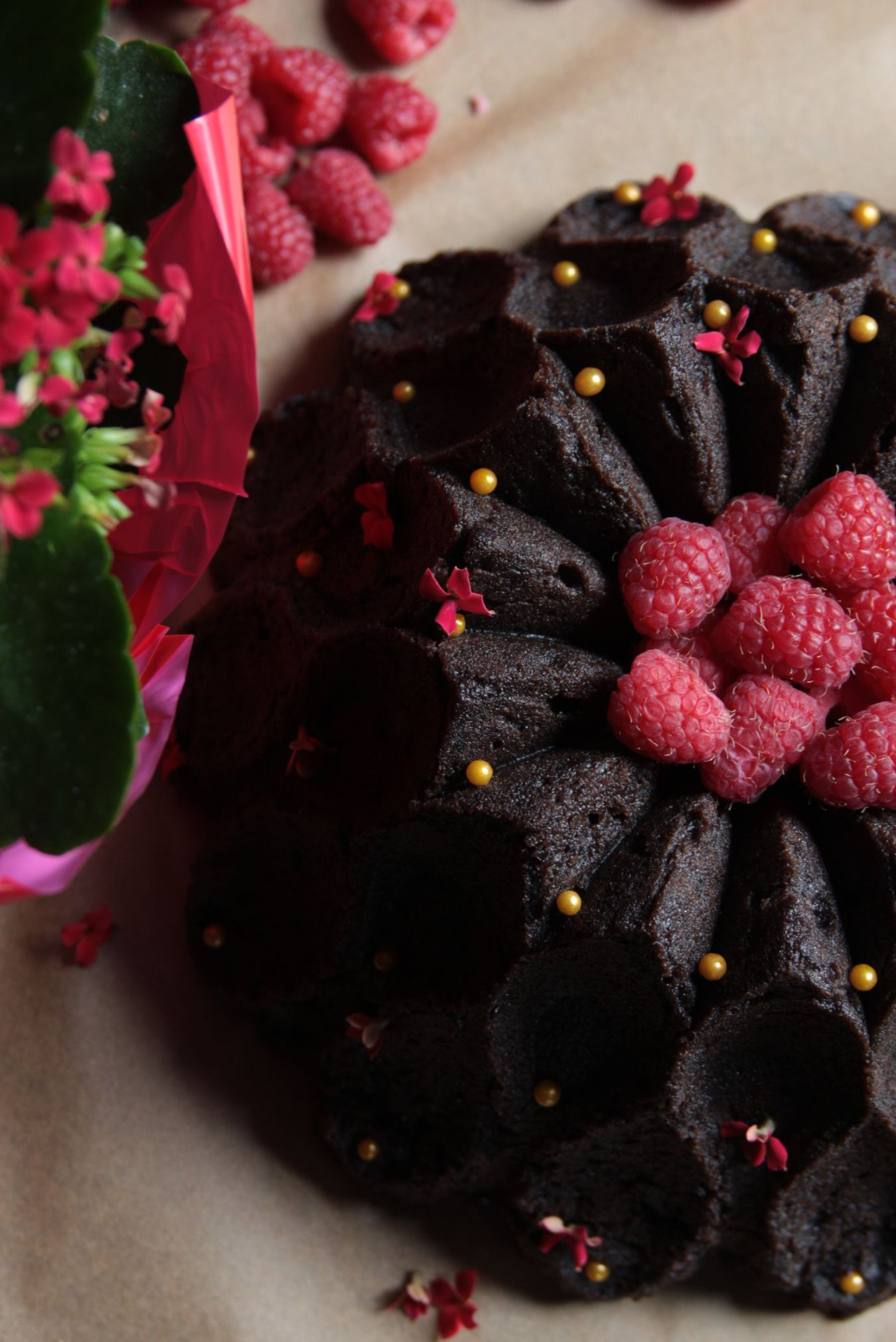 Chocolate Pound Cake With Raspberry Liqueur Simple Syrup The